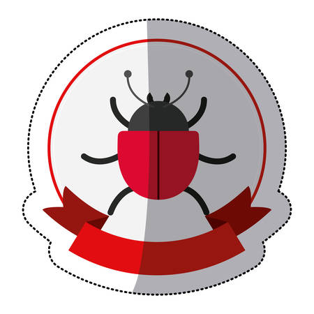 Bug icon. Security system warning protection and danger theme. Isolated design. Vector illustration Illustration