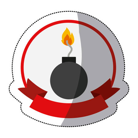 explosive hazard: Bomb icon. Security system warning protection and danger theme. Isolated design. Vector illustration