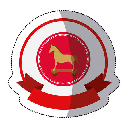 Horse icon. Security system warning protection and danger theme. Isolated design. Vector illustration