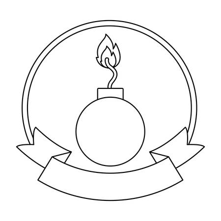 Bomb icon. Security system warning protection and danger theme. Isolated design. Vector illustration