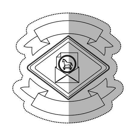 Envelope icon. Security system warning protection and danger theme. Isolated design. Vector illustration Illustration