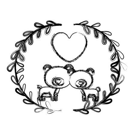 Bear cartoon icon. Animal cute life and nature theme. Isolated design. Vector illustration