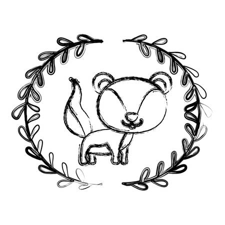 Squirrel cartoon icon. Animal cute life and nature theme. Isolated design. Vector illustration