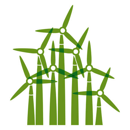 wind mill: Wind mill icon. Ecology renewable conservation and alternative theme. Isolated design. Vector illustration