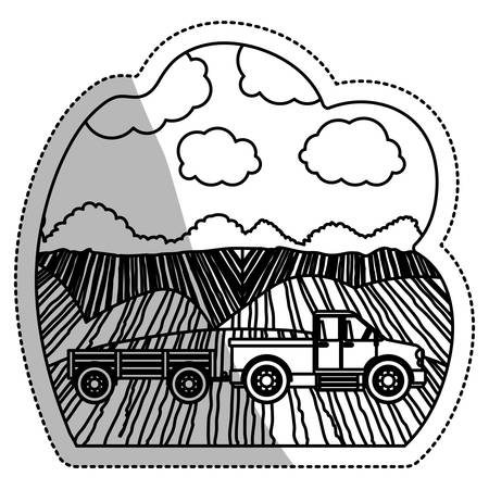 Truck vehicle icon. Machine tool instrument farm and agriculture theme. Isolated design. Vector illustration