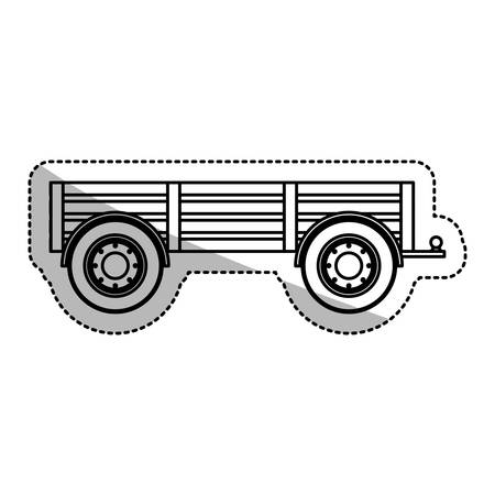 cultivating: Cart vehicle icon. Machine tool instrument farm and agriculture theme. Isolated design. Vector illustration Illustration