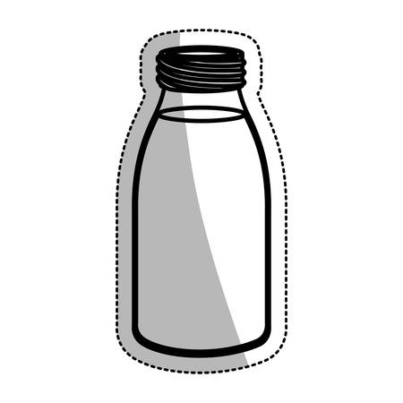 machine tool: Bottle icon. Machine tool instrument farm and agriculture theme. Isolated design. Vector illustration