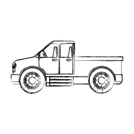 machine tool: Truck vehicle icon. Machine tool instrument farm and agriculture theme. Isolated design. Vector illustration