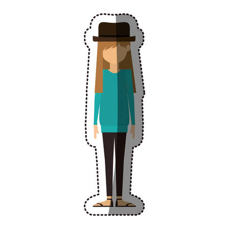 Girl icon. Female avatar person people and human theme. Isolated design. Vector illustration Vectores