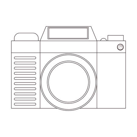 digicam: Camera icon. Device gadget technology and photography theme. Isolated design. Vector illustration