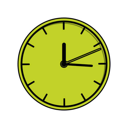 Clock icon. Time tool instrument and symbol heme. Isolated design. Vector illustration