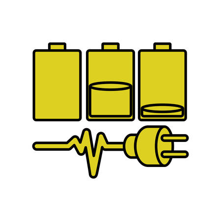 Battery icon. Energy power technology and electricity theme. Isolated design. Vector illustration Illustration