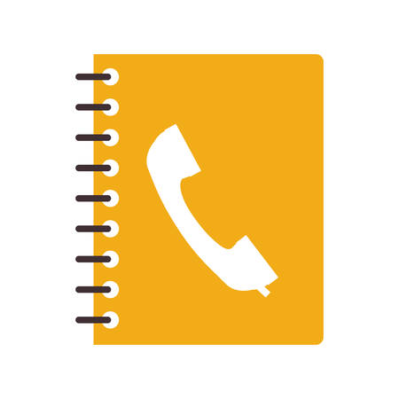 directory book: Agend icon. Notebook book directory and information  theme. Isolated design. Vector illustration