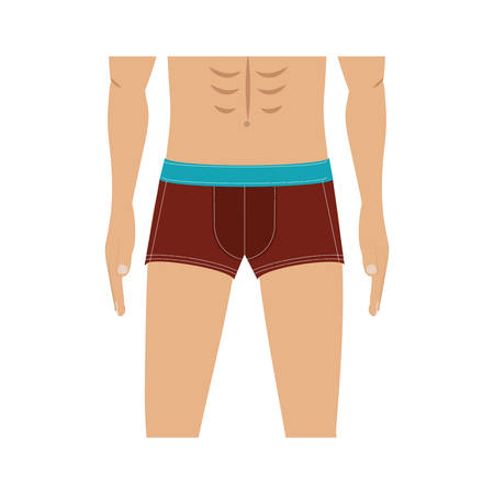 half body men with swimming trunks vector illustration Stock Vector - 67135935