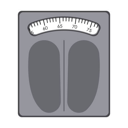 losing control: gray of scales for weight control vector illustration