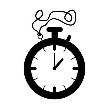 elapsed: silhouette black of stopwatch graphic vector illustration Illustration