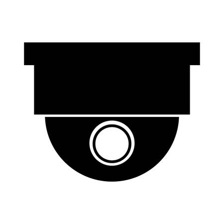 lighting button: silhouette dome turret type for surveillance systems vector illustration