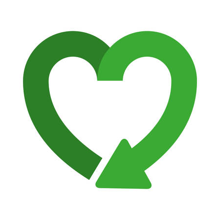 hart vorm symbool van herladen pictogram vector illustratie