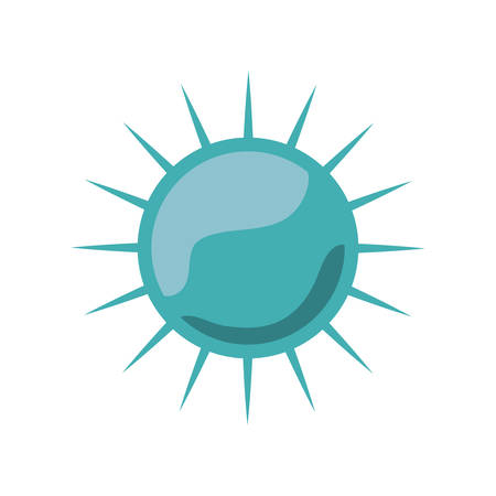 silhouette light blue with bacteria or virus vector illustration Illustration