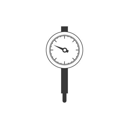speedmeter: Gauge icon. Power measurement speedmeter and instrument theme. Isolated design. Vector illustration