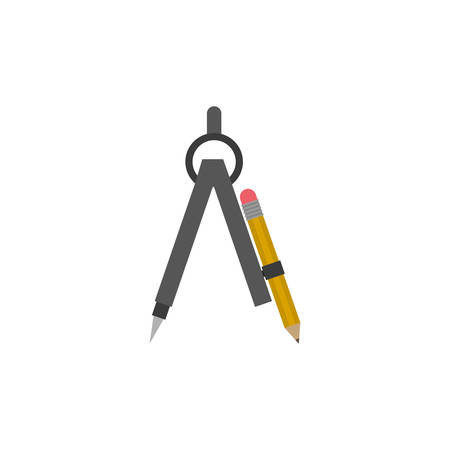 restoration: Compass of architecture icon. Construction tool repair work and restoration theme. Isolated design. Vector illustration
