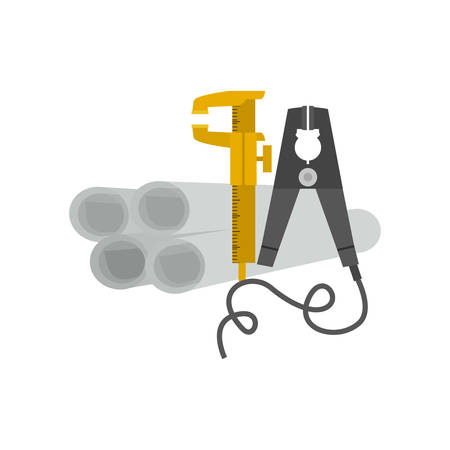 restoration: Plans icon. Construction tool repair work and restoration theme. Isolated design. Vector illustration