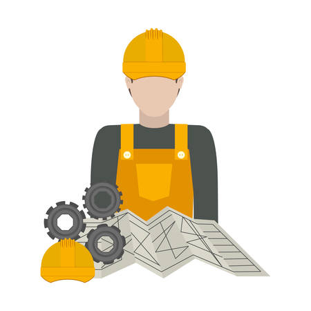 restoration: Constructer icon. Construction tool repair work and restoration theme. Isolated design. Vector illustration