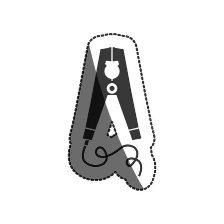 restoration: Pliers icon. Construction tool repair work and restoration theme. Isolated design. Vector illustration
