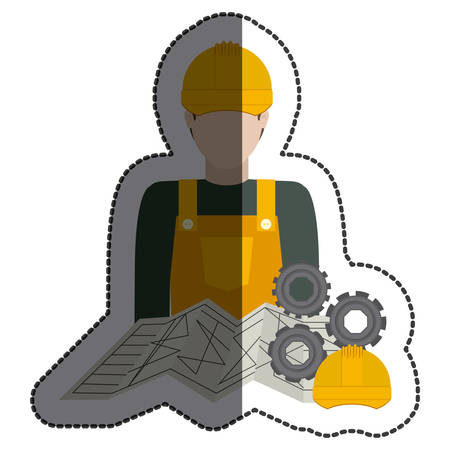 Constructer icon. Construction tool repair work and restoration theme. Isolated design. Vector illustration