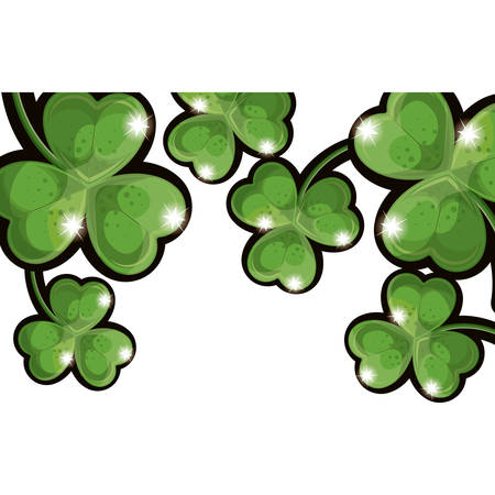 four fourleaf: Clover leaf icon. Luck plant spring celebration and fortune theme. Isolated design. Vector illustration Illustration