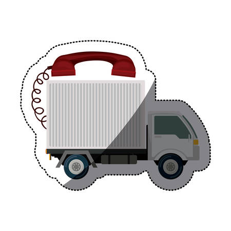 Truck icon. Delivery shipping logistics and transportation theme. Isolated design. Vector illustration
