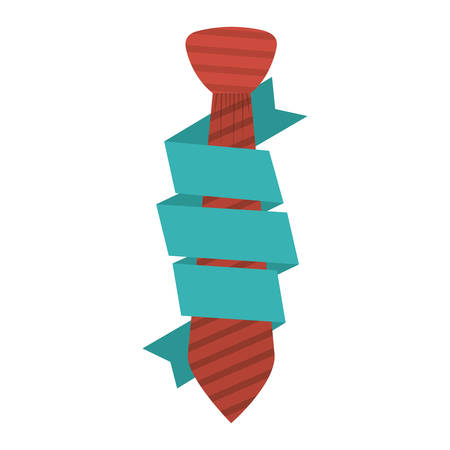 Necktie icon. Cloth fashion style wear and shop theme. Isolated design. Vector illustration Illustration