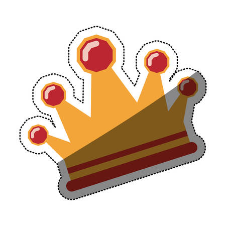 Crown icon. Royal king queen and luxury theme. Isolated design. Vector illustration