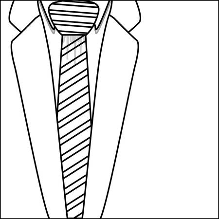 Necktie with jacket icon. Cloth fashion style wear and shop theme. Isolated design. Vector illustration