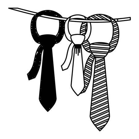 icono de la corbata. Paño desgaste estilo de la moda y la tienda de tema. diseño aislado. ilustración vectorial