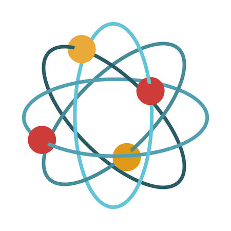 vector nuclear: Atom icon. Chemistry science nuclear and molecular theme. Isolated design. Vector illustration