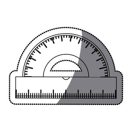 numbers clipart: Ruler icon. Instrument tool work and measurement theme. Isolated design. Vector illustration Illustration