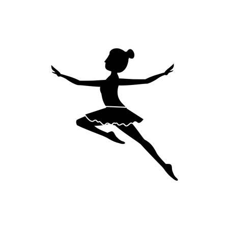 stretch: Girl practice ballet icon. Dancer sport person health and balance theme. Isolated design. Vector illustration