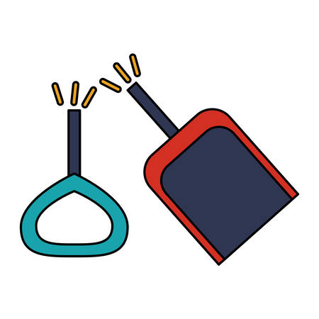Toy shovel damaged icon. Childhood play fun cartoon and game theme. Isolated design. Vector illustration