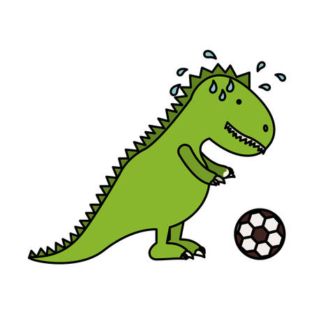 Toy dinosaur icon. Childhood play fun cartoon and game theme. Isolated design. Vector illustration Illustration
