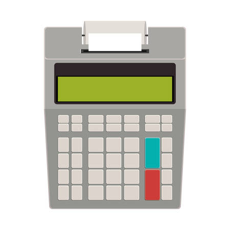 Calculator icon. Tool mathematics finance and device theme. Isolated design. Vector illustration