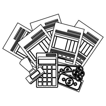 tax form: Tax form icon. Document finance and financial item theme. Isolated design. Vector illustration Illustration