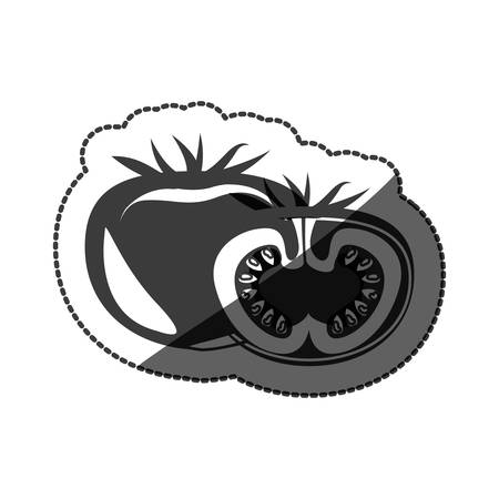 Tomato icon. Organic healthy and fresh food theme. Isolated design. Vector illustration