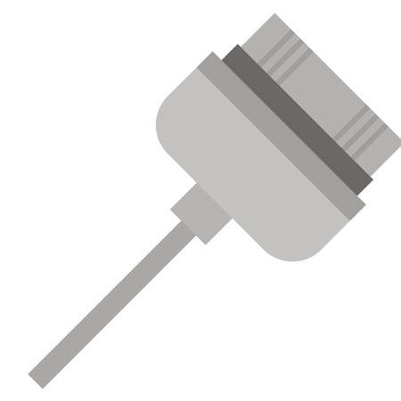 computer socket: Cable icon. Device connection technology and equipment theme. Isolated design. Vector illustration Illustration