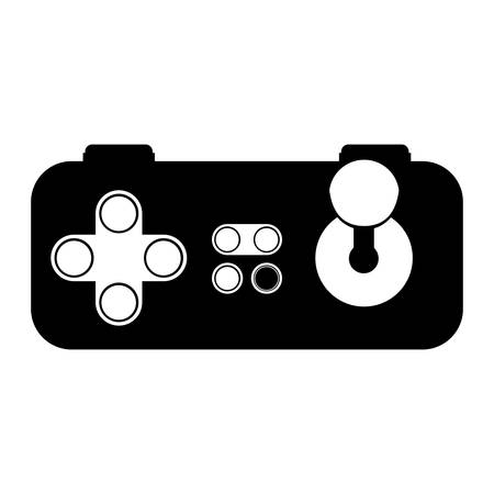 videogame: Gamepad icon. Videogame play leisure gaming technology and entertainment theme. Isolated design. Vector illustration