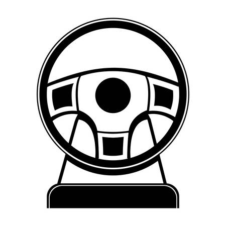 videogame: Wheel icon. Videogame play leisure gaming technology and entertainment theme. Isolated design. Vector illustration