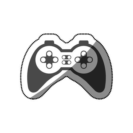 obsession: Gamepad icon. Videogame play leisure gaming technology and entertainment theme. Isolated design. Vector illustration