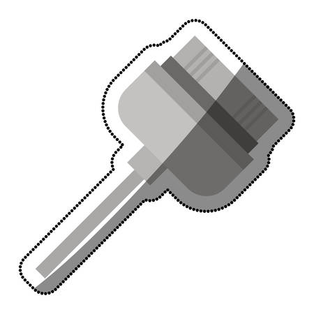 Cable icon. Device connection technology and equipment theme. Isolated design. Vector illustration Illustration