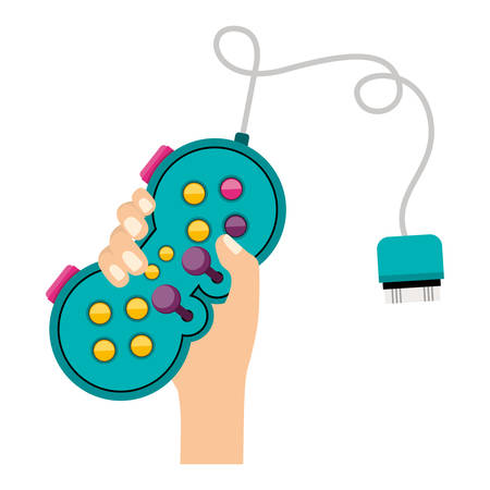 Gamepad icon. Videogame play leisure gaming technology and entertainment theme. Isolated design. Vector illustration