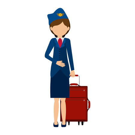 Stewardess icon. Airport travel trip and tourism theme. Isolated design. Vector illustration